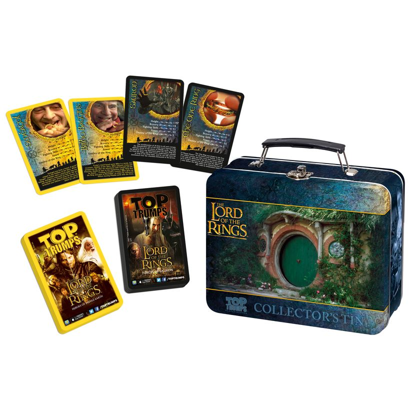 Choose your favourite ! Top Trumps Collectors Tins Card Games 2018 Edition